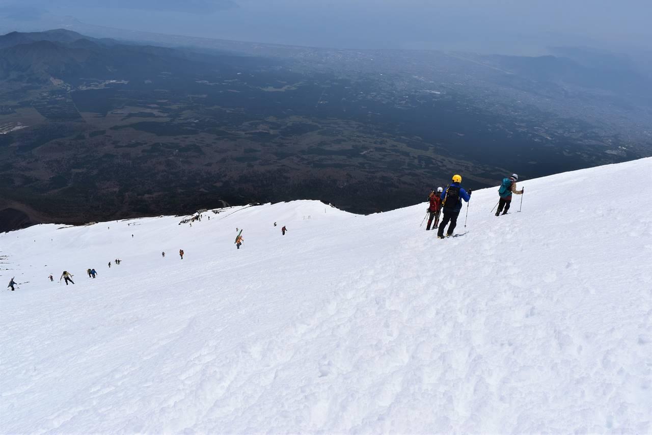 雪の富士山(富士宮コース)