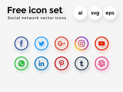 The 25 Best Free Beautiful Social Media Icon Packs for 2020 4