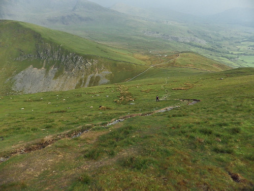 Looking towards Bwlch Maesgwm from Foel Goch