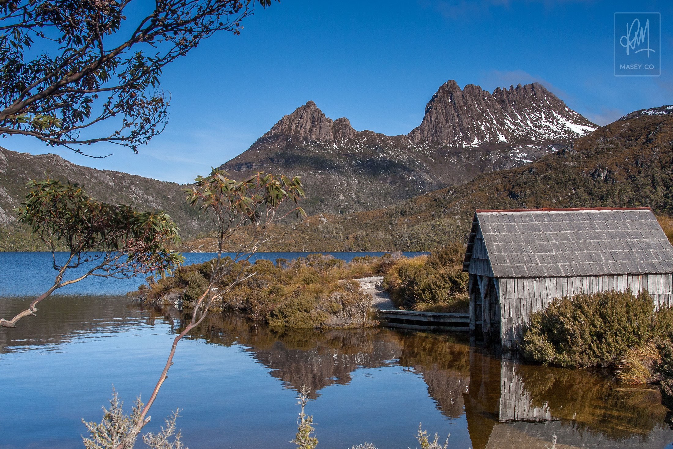 The iconic Dove Lake Boatshed