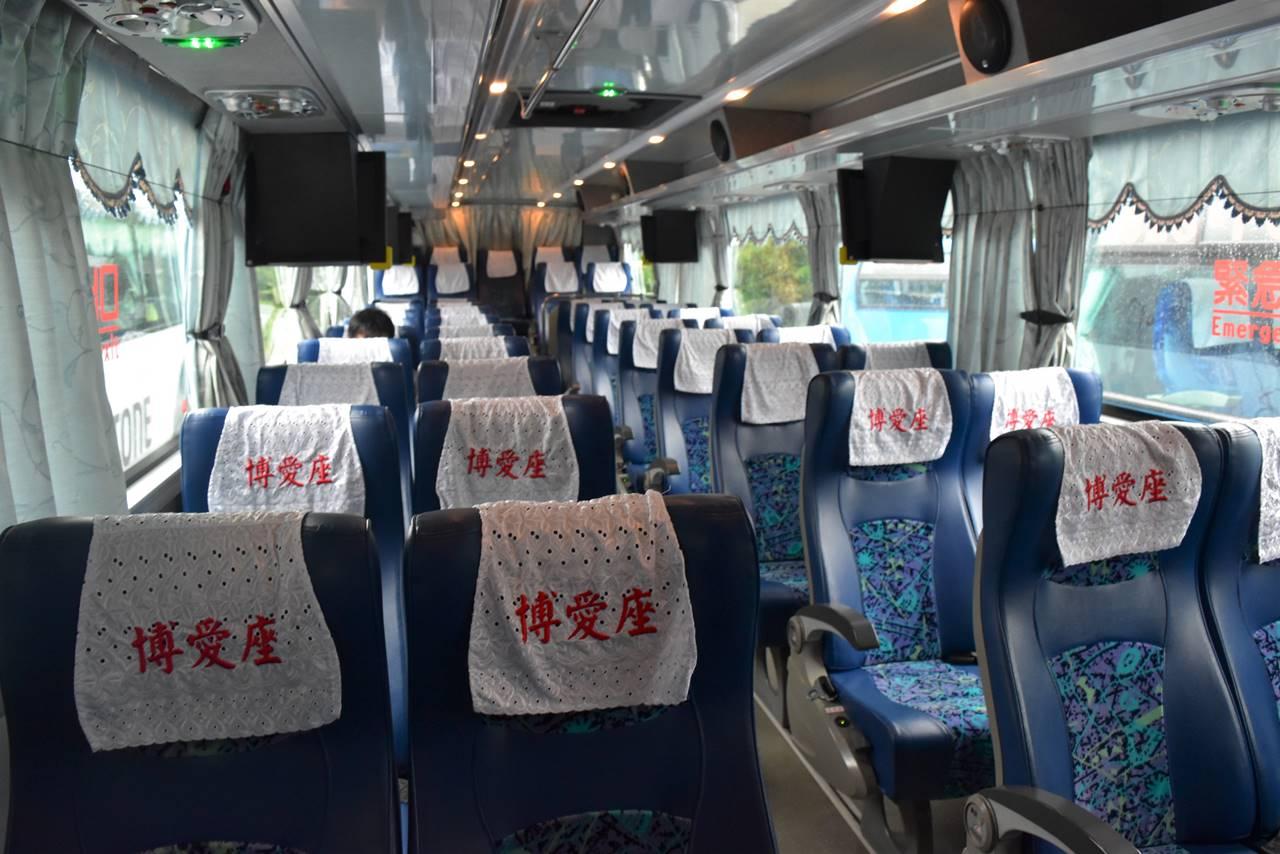 台湾の高速バス車内