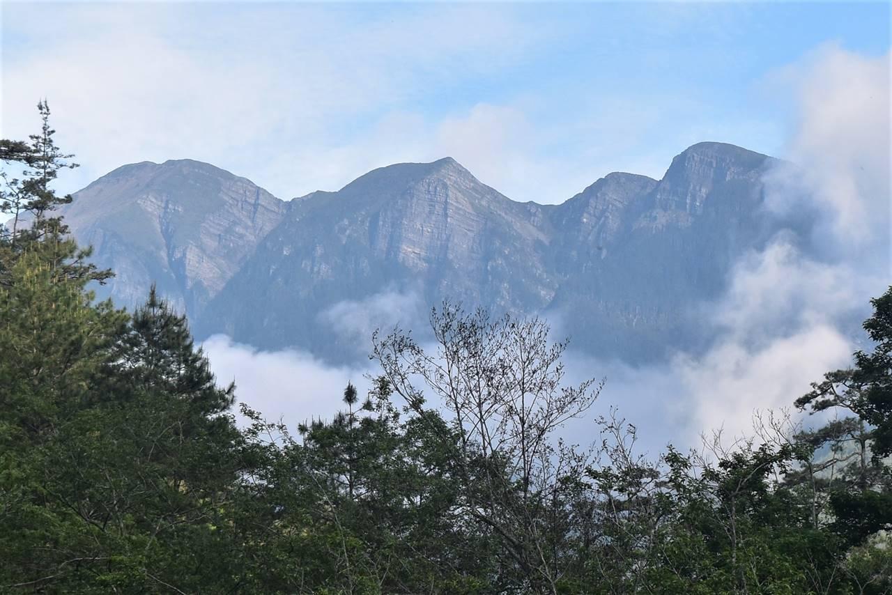 台湾 麓から眺める雪山主峰