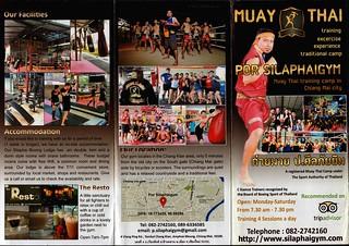 Brochure Por Silaphai Thai Boxing Gym Chiang Mai Thailand 1