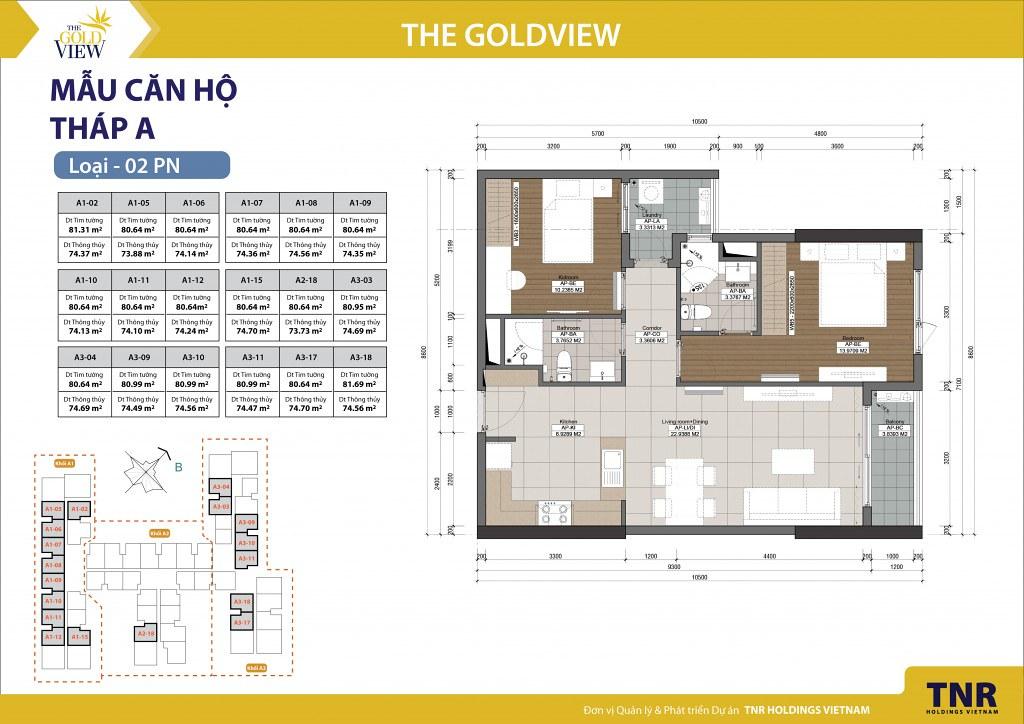 mặt bằng căn hộ Goldview