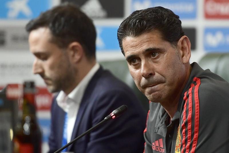 Fernando Hierro臨時接任西班牙總教練。(AFP授權)