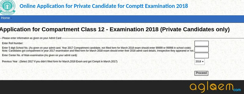 CBSE 12th Compartment Date Sheet 2018