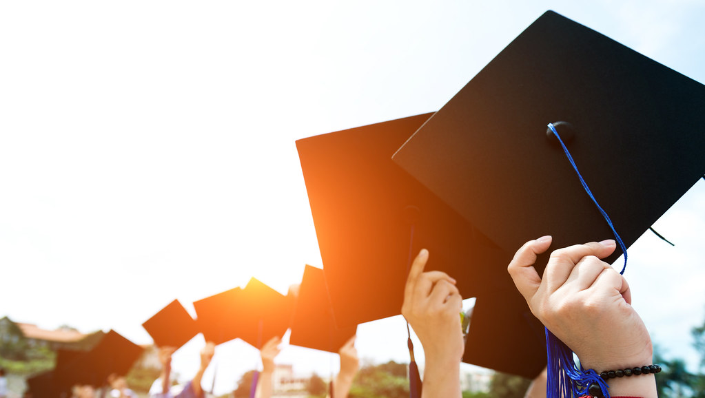 Stock image of students graduating.