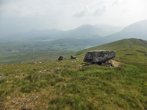 Descending down Bwlch Carreg y Gigfran