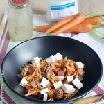 Rhabarber-Karottensalat, roh