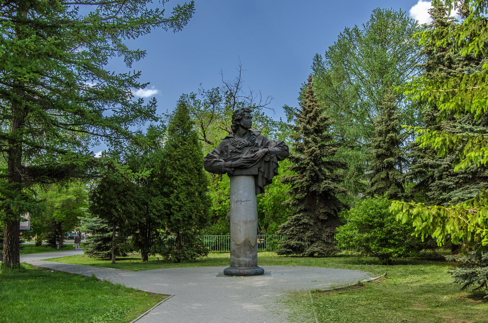 фотограф Челябинск Бюст Пушкин, городской сад имени Пушкина