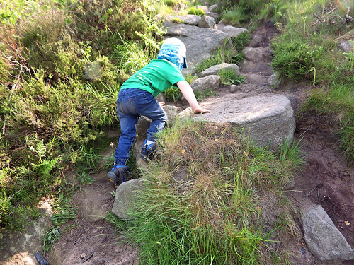 The steep climb up to Birchen Edge