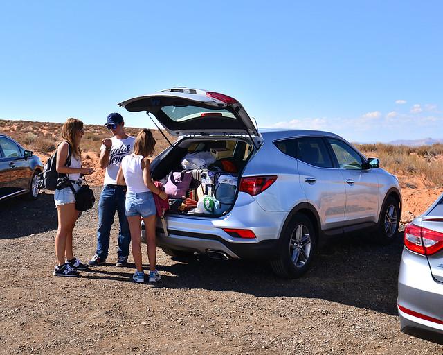 Llegando en coche al Antelope Canyon