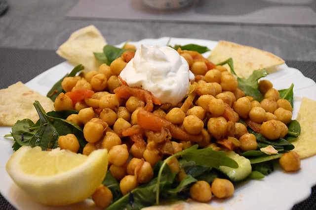Indian chickpea salad