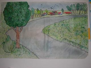 2 disegno fiume in estate