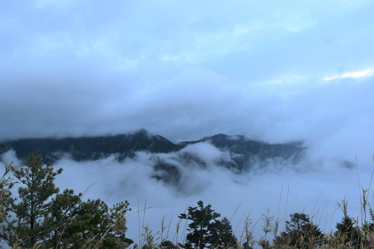 台湾・雪山登山 展望台からの眺め
