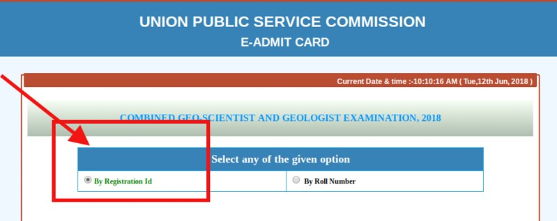 UPSC Geologist & Geoscientist 2018 Admit Card (Released)   Download Here