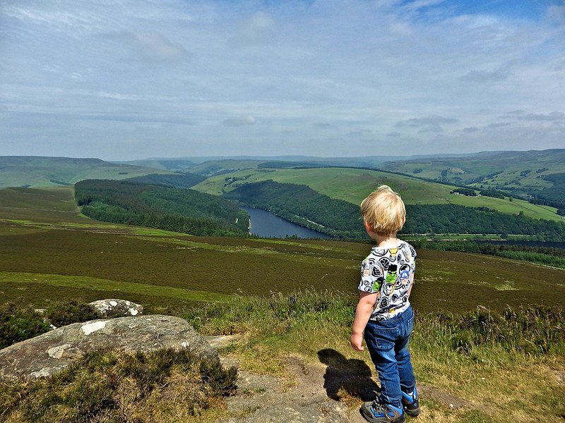 View of Ladybower Reservoir from Win Hill