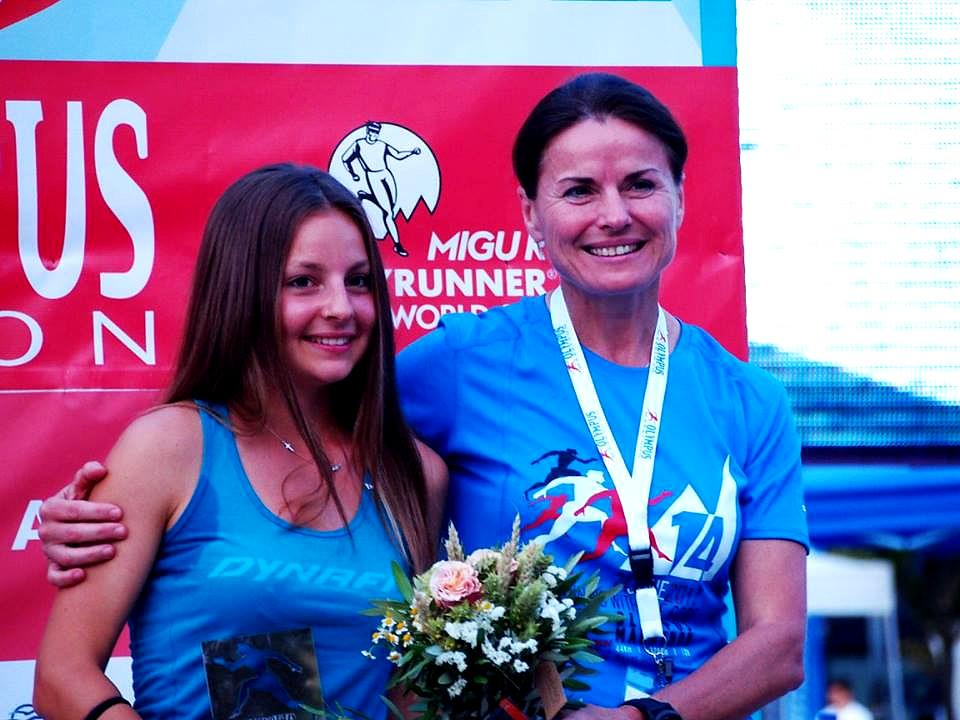 Σε μια φωτογραφία αποτυπωμένη η Ιστορία αλλά και το Μέλλον του Ορεινού Τρεξίματος! Η Ιρένα Μαλιμπόρσκα με την Φωτεινή Κολόκα στον Olympus Marathon!