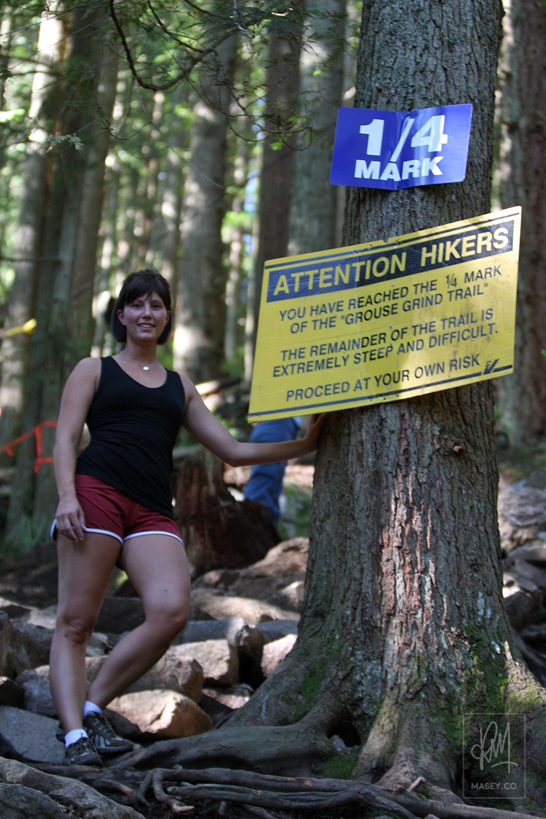 At the 1/4 mark of the Grouse Grind