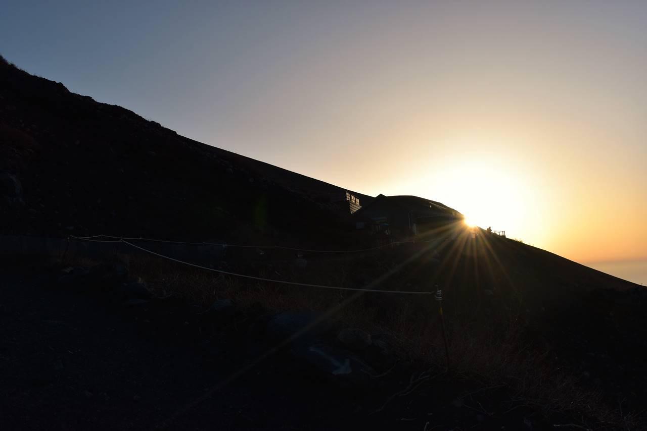 富士山・富士宮コースの朝日
