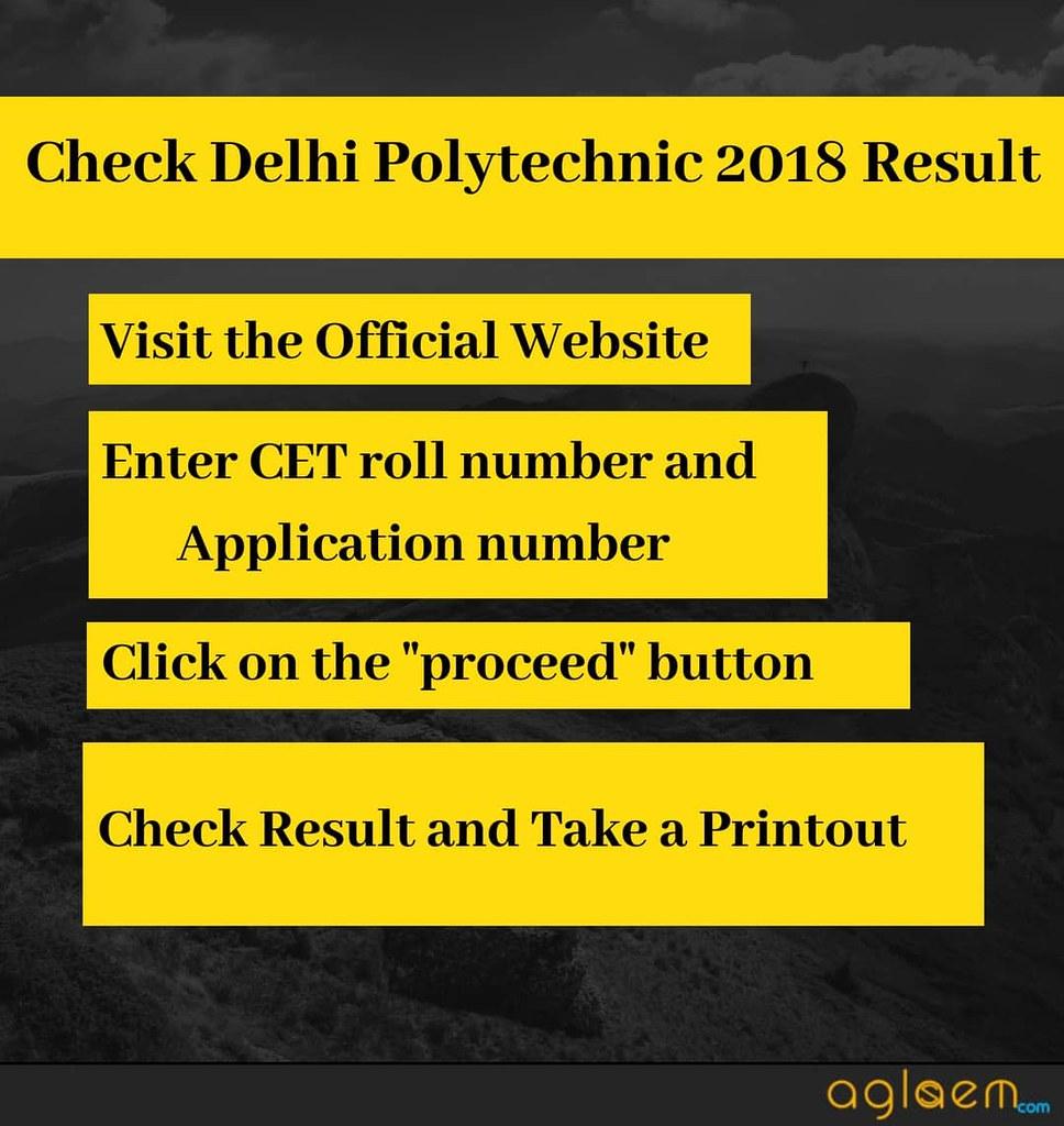 Delhi Polytechnic CET 2018 Result Has Been Declared