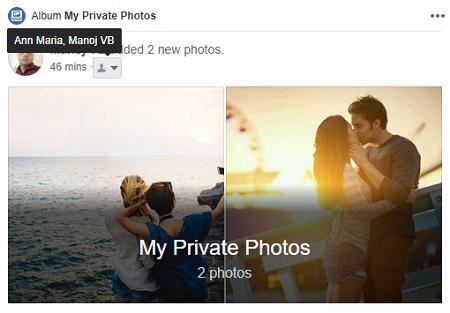 Private Photos Facebook