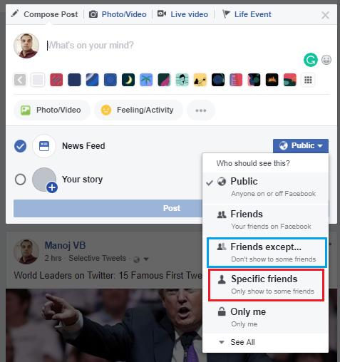 hide posts Facebook