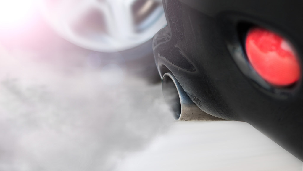 Vehicle emissions exhaust fumes