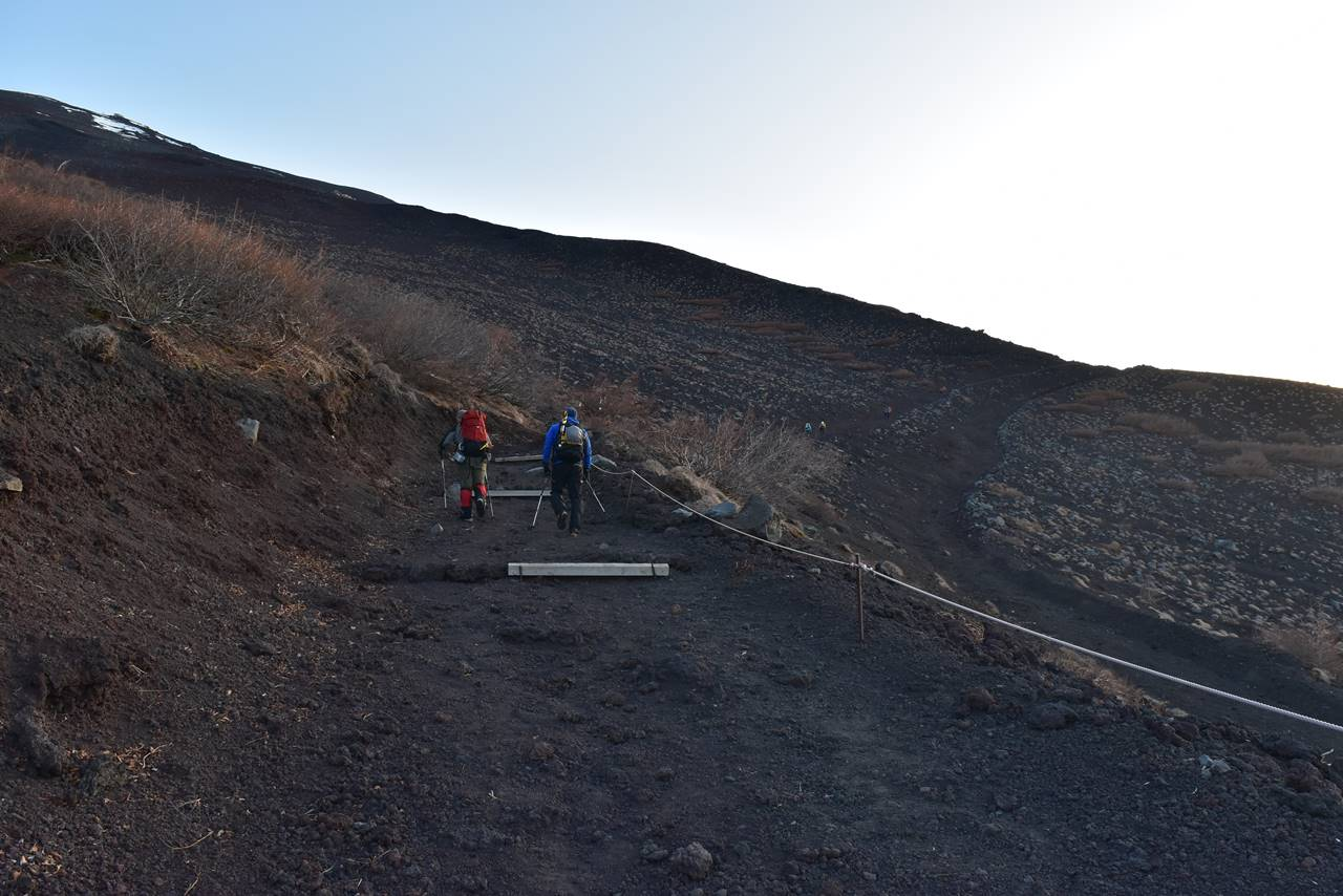 富士山 富士宮コース登山道