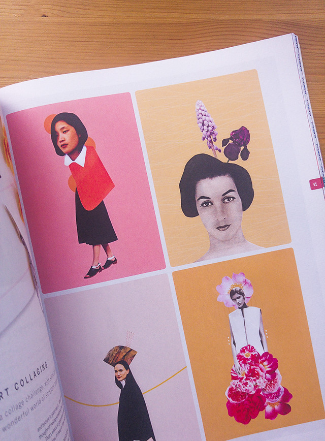 my collages in project calm magazine