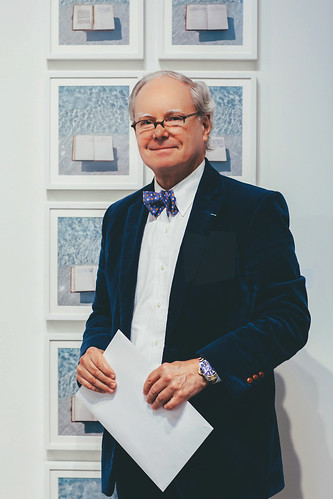 "Martin with ""Teenage Diary"" suite of photographs by Judy Dater, 2018"