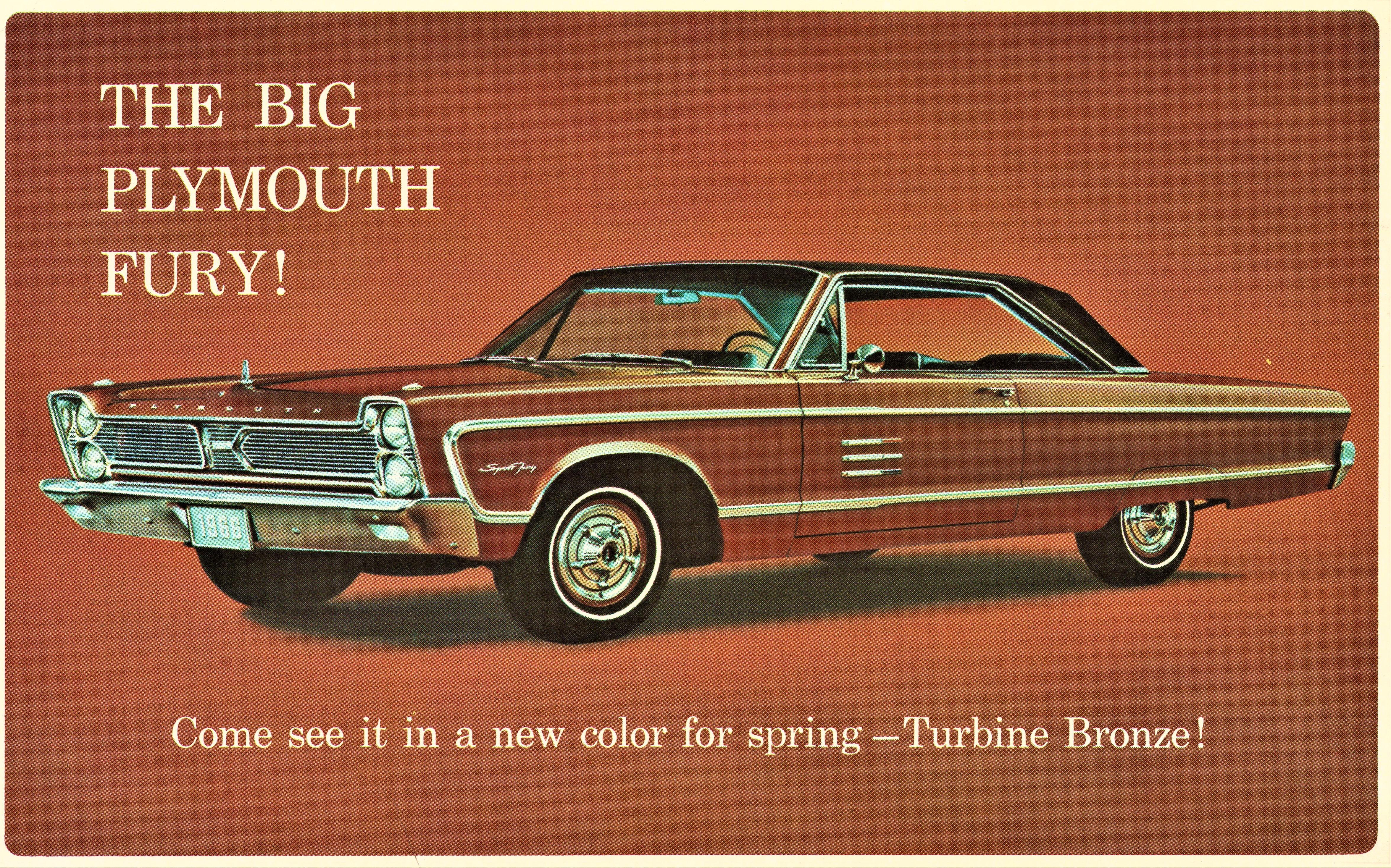 1966 Plymouth Sport Fury 2-Door Hardtop postcard