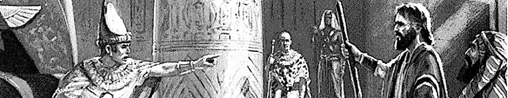 Первая встреча Моисея с фараоном.
