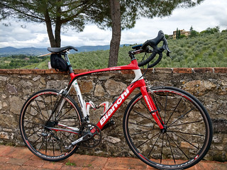 My rental Bianchi at our Tuscan villa