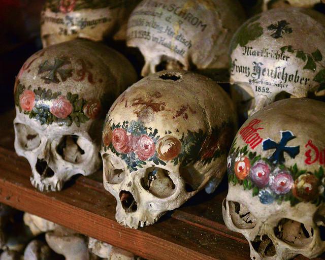 Calaveras del cementerio de Hallstatt