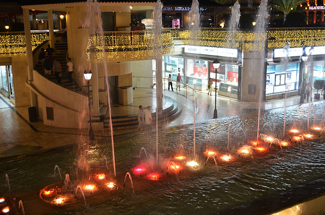 Dancing fountain, Safari Centre, Playa de las Americas, Tenerife