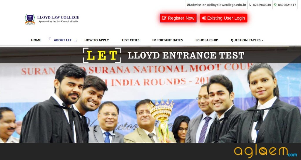 Lloyd Entrance Test (LET) 2019 Application Form