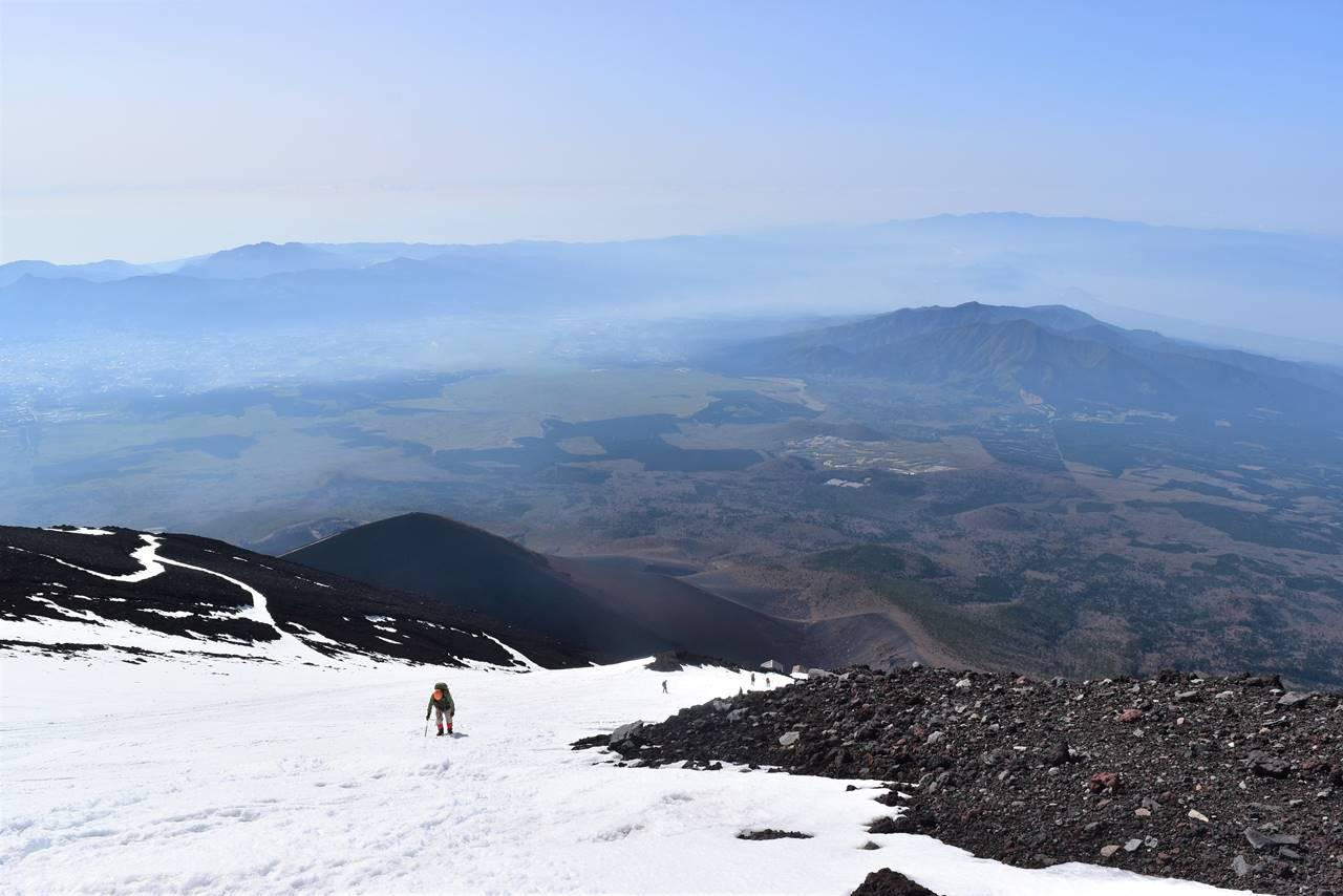 富士山登山道からの展望