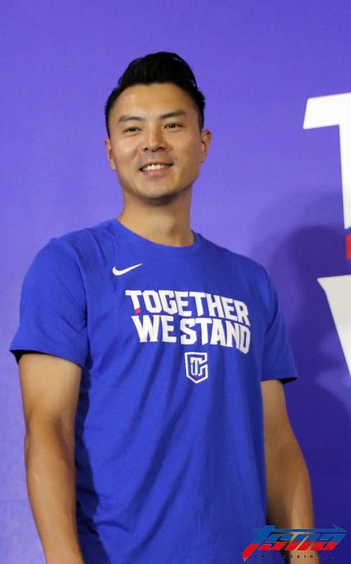陳信安呼籲球迷要踴躍支持中華隊。(林志儒/攝)