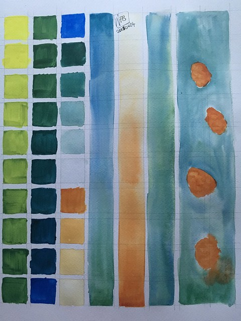 Watercolour test sheet