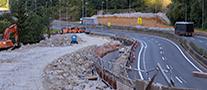 La imagen muestra el estado del ramal paralelo a la autopista