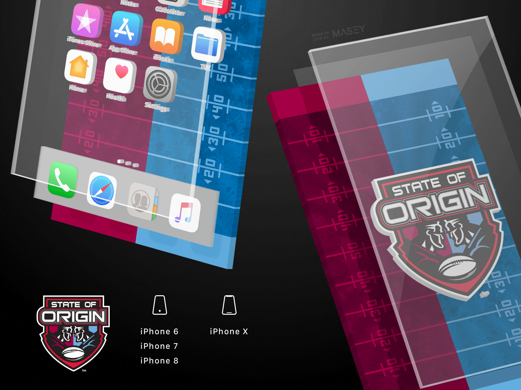 State of Origin Field iPhone Wallpaper