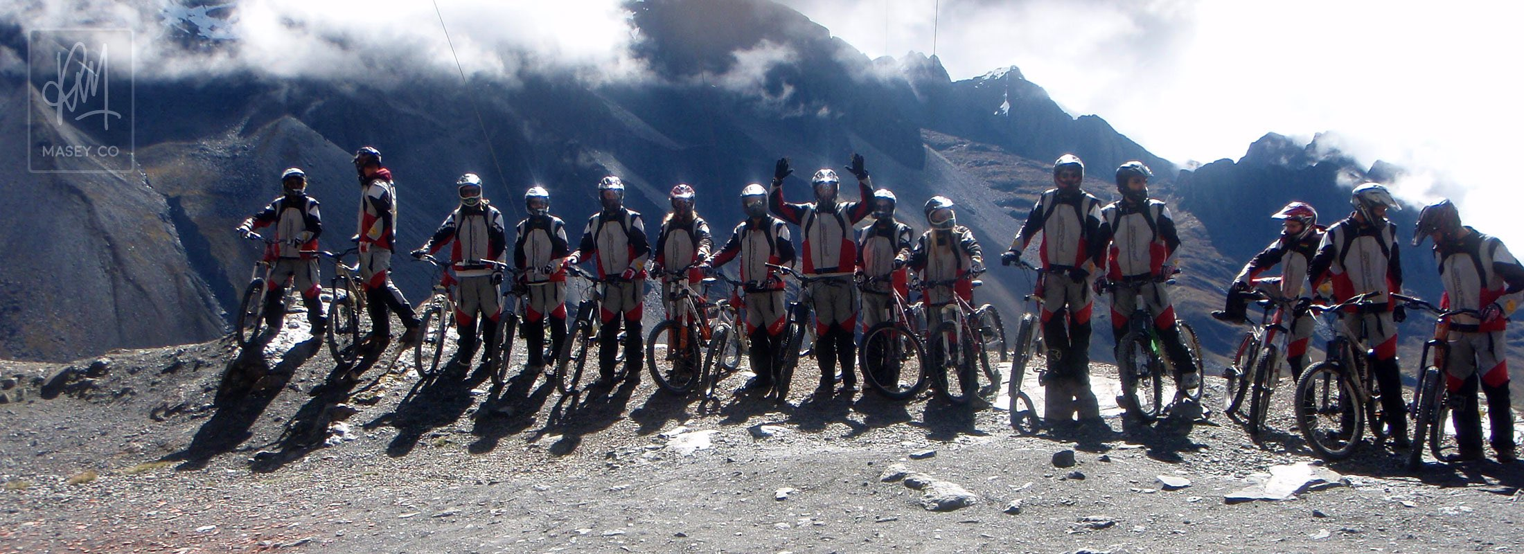 Suiting up for mountain biking down Bolivia's famed Death Road