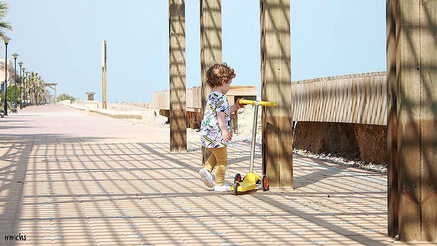 playa de Almenara con niños