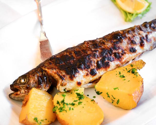 Trucha de Hallstatt, una de las delicias de la zona