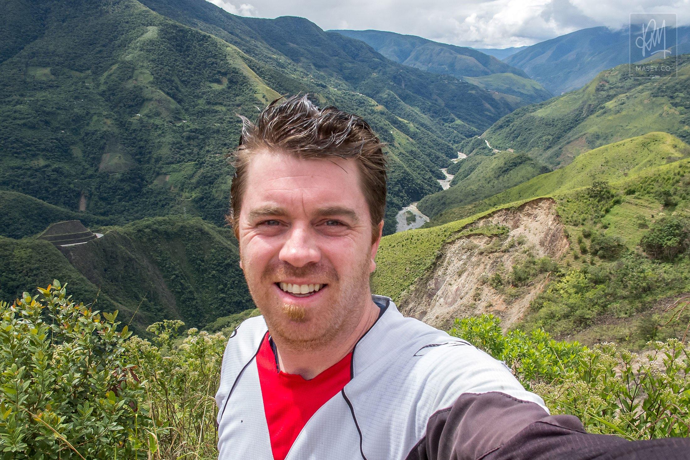 Mountain biking down Bolivia's famed Death Road