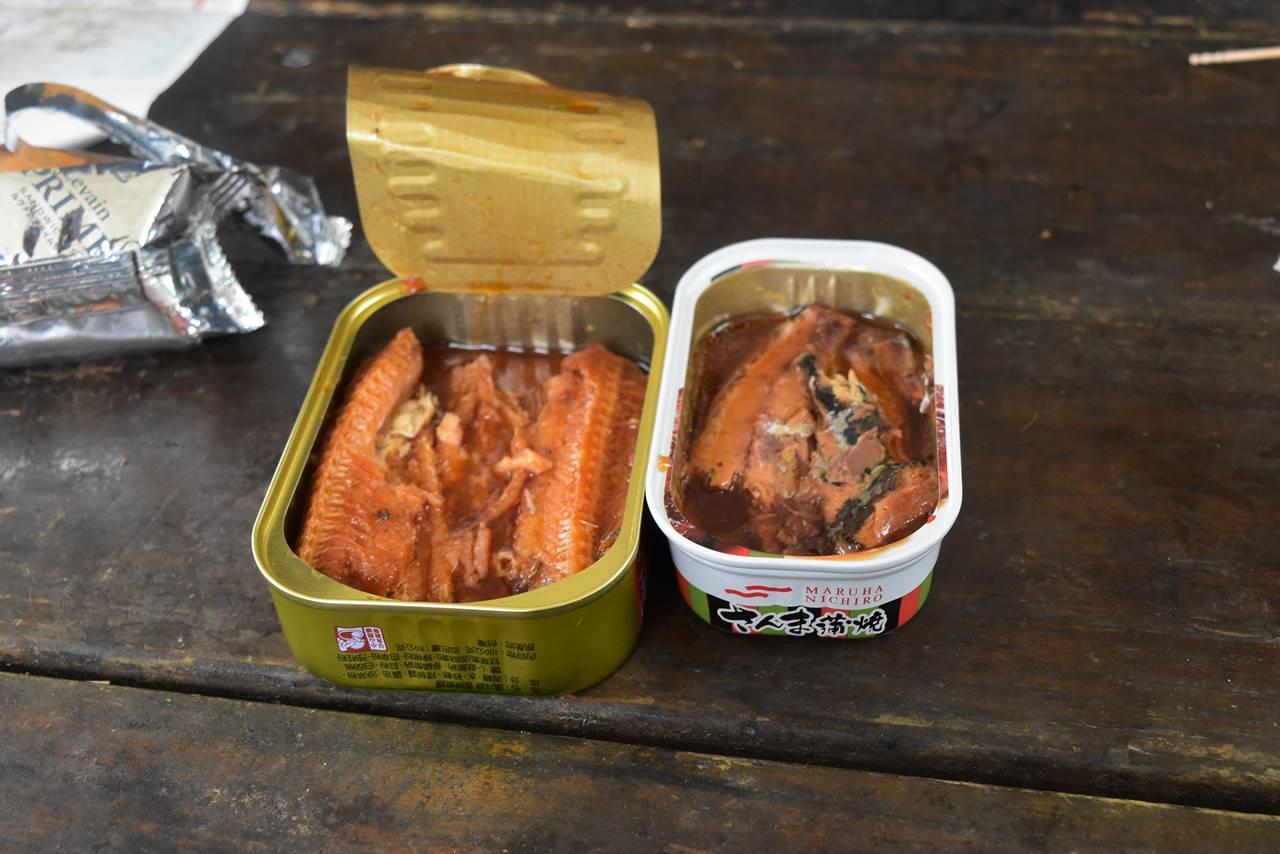台湾と日本の缶詰