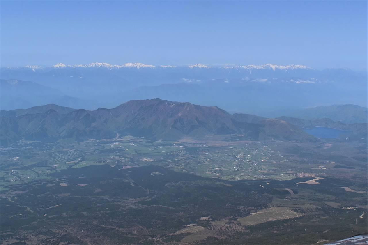 富士山から眺める南アルプス