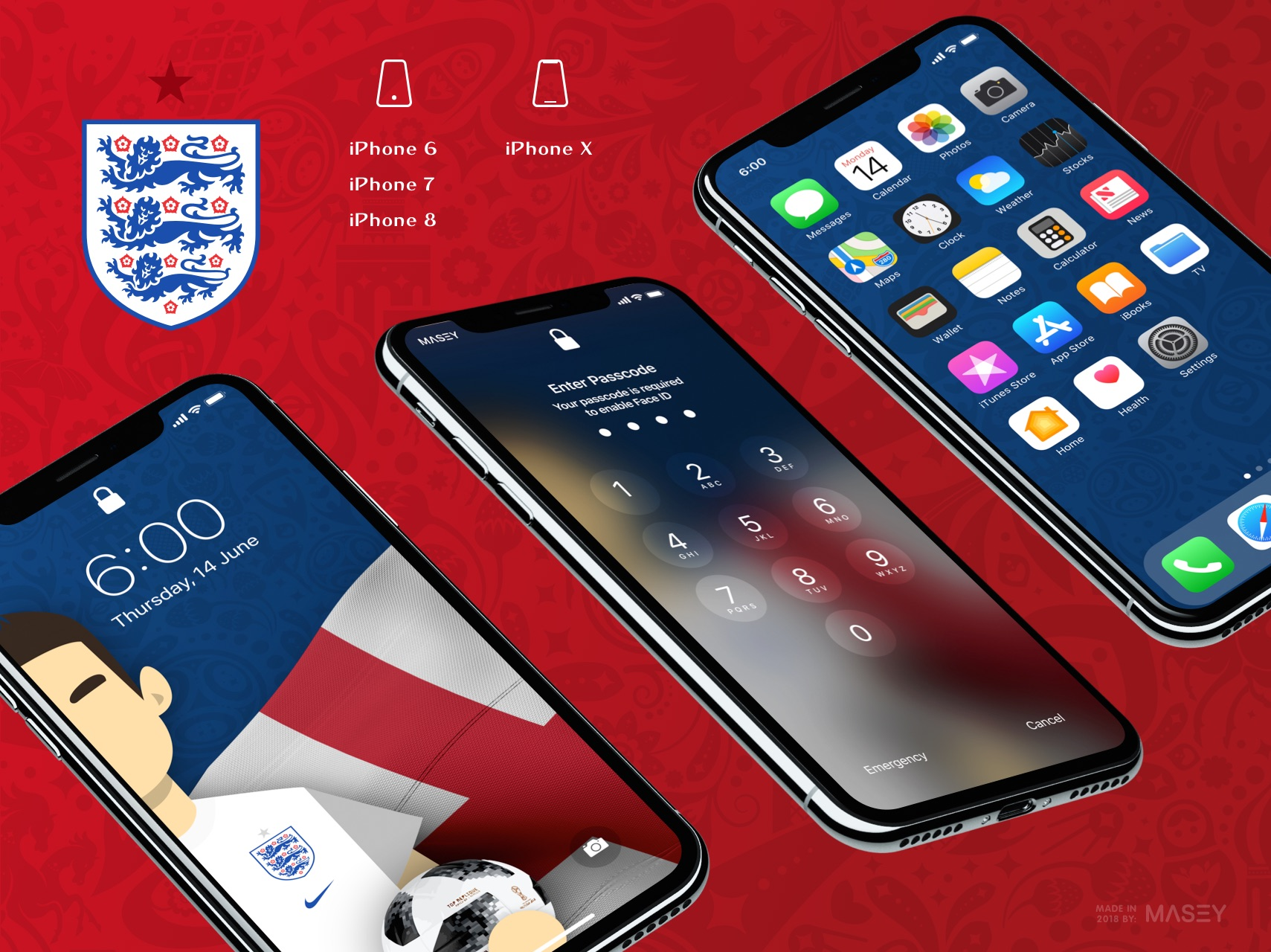 Team England iPhone Wallpaper
