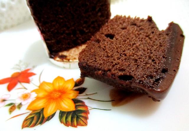 Gluten-free chocolate cupcake, inside
